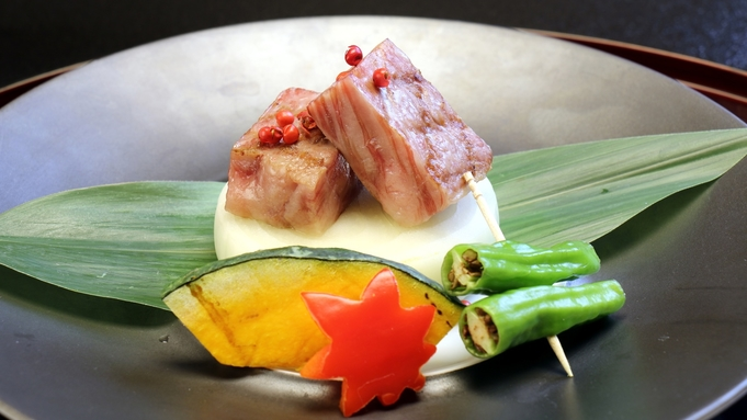 【個室会席・山上館宿泊】食は旬の食材を使った会席 ≪熊野牛ステーキ≫