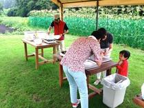 農園クッキング・採り立て野菜をクッキング