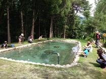 フィッシング教室・エリア内の釣り堀で実践