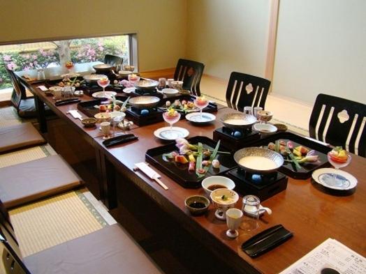 【夕食個室確約】3密回避で安心!季節の和会席1泊2食付きプラン【平日限定】