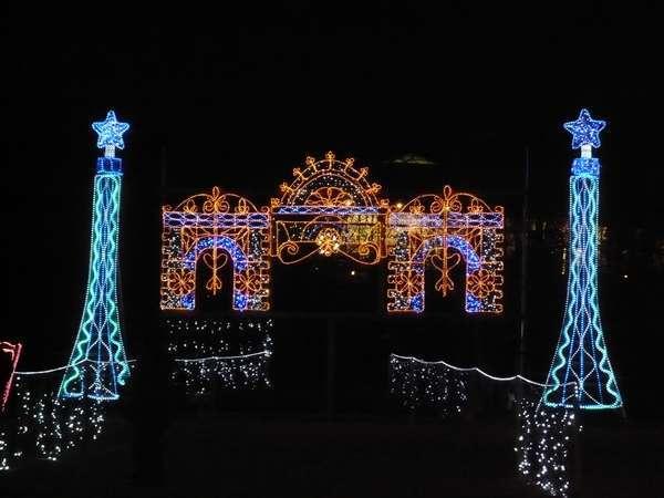 中軽井沢ふるさと公園のイルミネーション(車で5分・冬季限定)