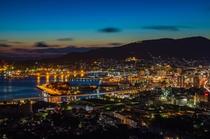 天神山展望台からの佐世保の夜景