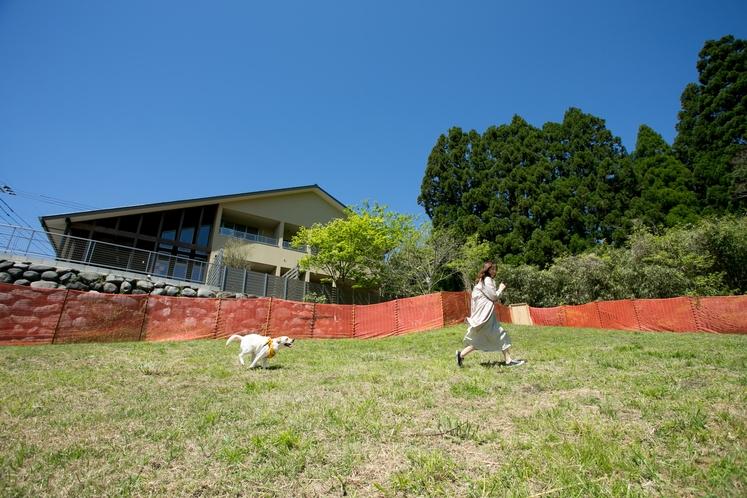 ドックラン 雄大な阿蘇の自然に包まれる600坪の自遊空間