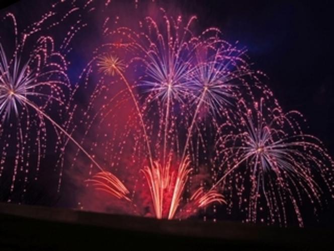 標準室 お部屋から観る夏の花火