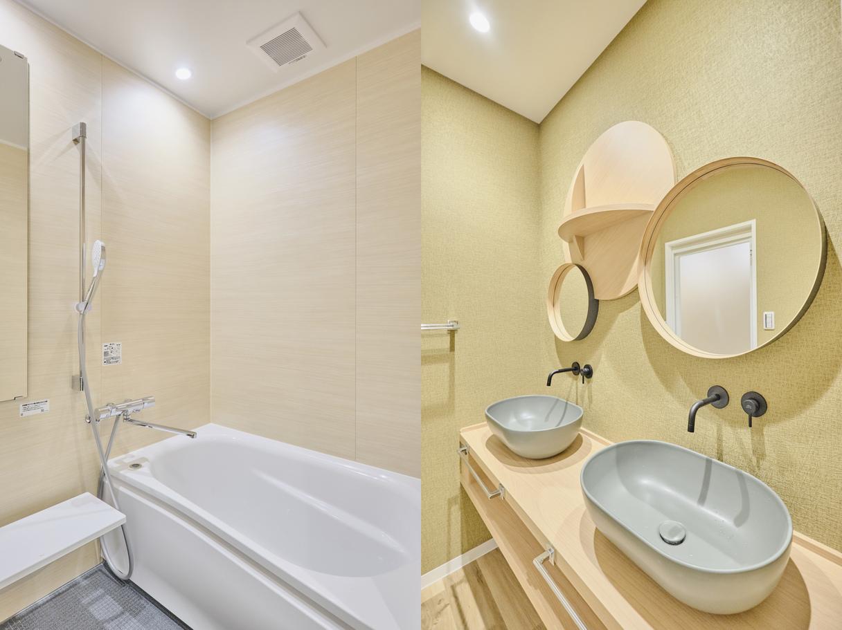 1階和室「山桜」バスルームと洗面所