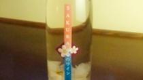 桜の花入り ロゼワイン