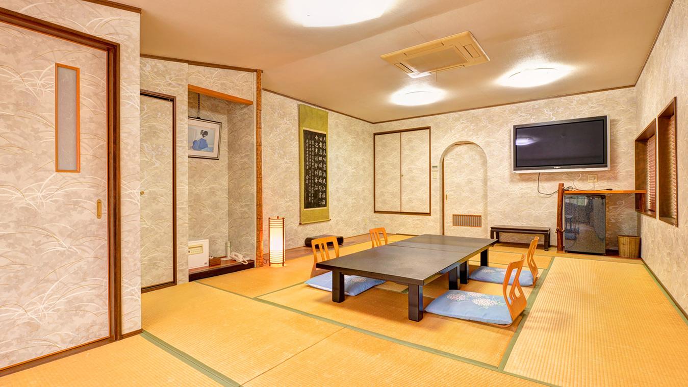 *【和室16畳(客室一例)】16畳の広いお部屋でのんびりとお寛ぎください。