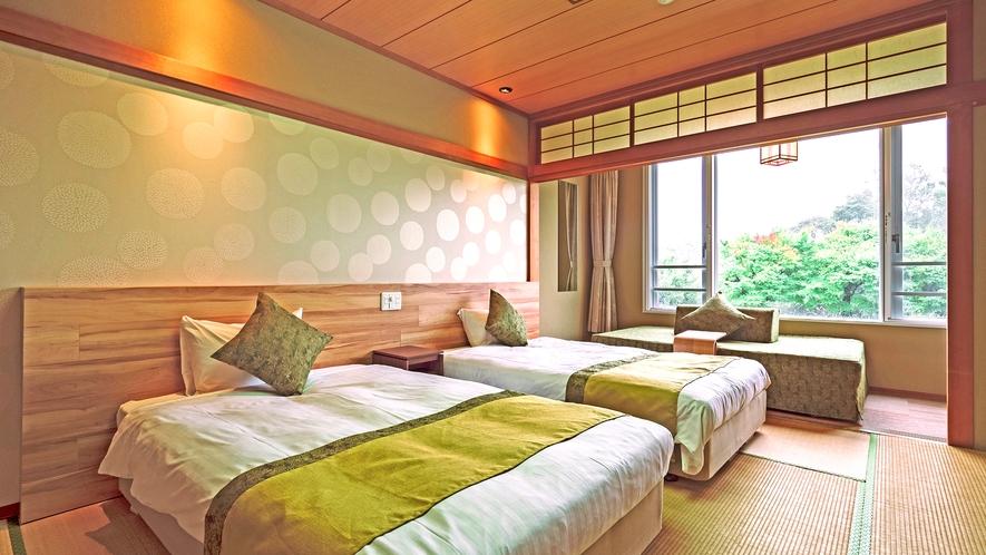 【和室ツイン】10畳◆120cmベッド2台