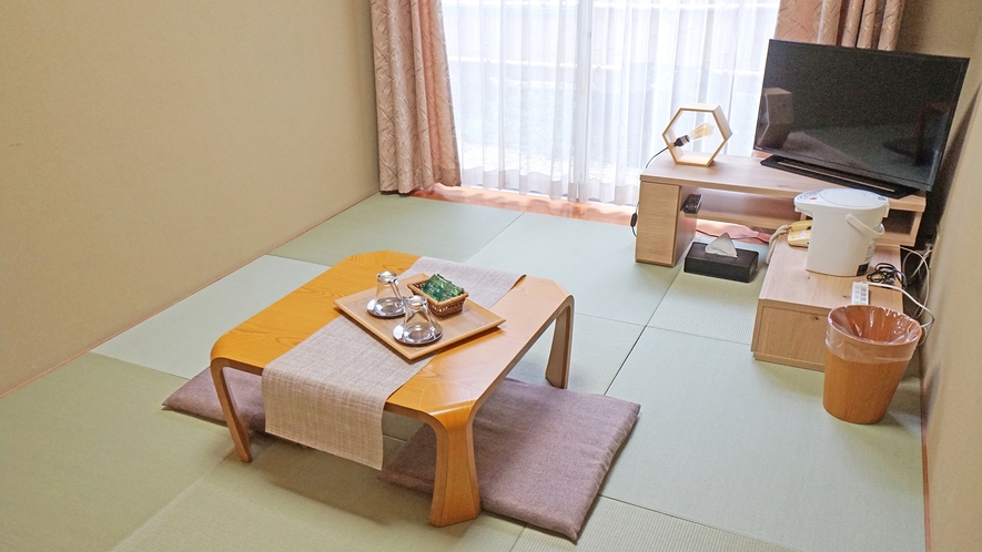 【温泉付き和室(昼)】8畳◆ゲストルーム◆お布団1~3名