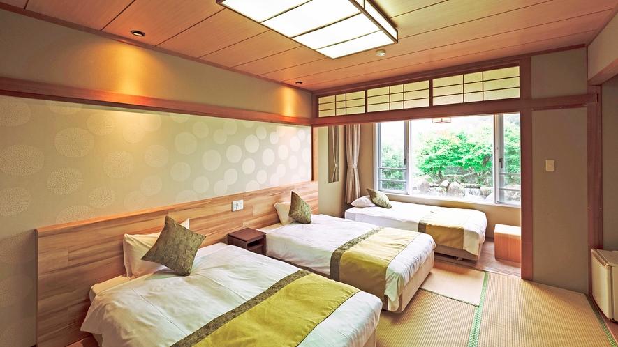 【和室トリプル】10畳◆120cmベッド2台・ソファベッド1台