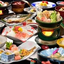 女将の手作り夕食膳【一例】
