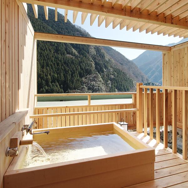 露天風呂付和室ヒノキ1(陶器風呂・檜風呂はお選びいただけません)