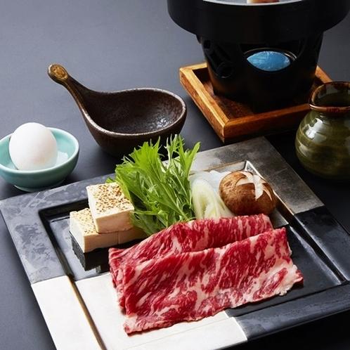 【上州牛のすき焼き(黒毛和牛A5ランク)】