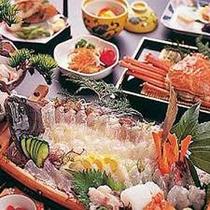 冬場が旬の海鮮・平目プランの御料理はお魚を堪能されたいお客様にはオススメです。