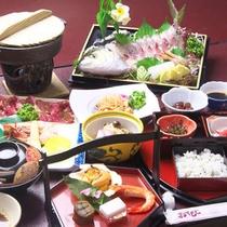 【マル得プラン】季節のお刺身を中心とした長崎郷土料理(お料理一例