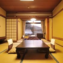 *客室一例/お部屋はすべて10畳+4.5畳の和室二間、ファミリーでもゆっくりできる広さです。