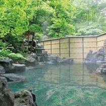 露天温泉岩風呂:新緑イメージ