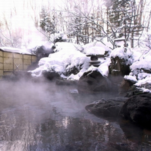 露天温泉岩風呂:雪見温泉のイメージ