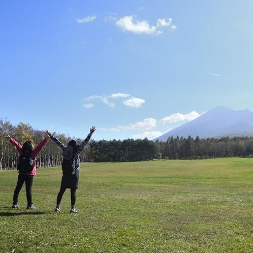 【岩手県民の森】天気のいい日に見る岩手山は最高♪思わず深呼吸しちゃいます。