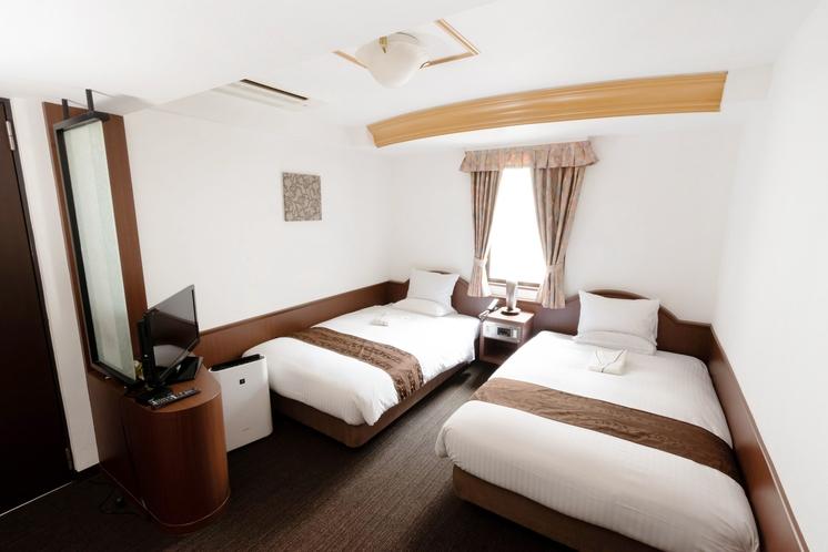 ◆エコノミーツインルーム◆18.5㎡ シモンズ製ベッド/デュベスタイル