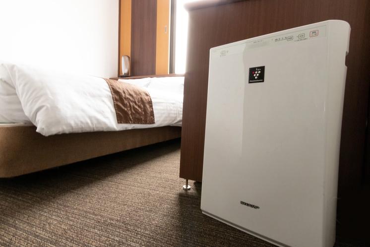 ◇空気清浄機◇客室空気清浄の為SHARPプラズマクラスターを全室に設置