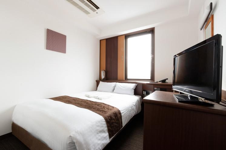 ◆ダブルルーム◆15.2㎡ シモンズ製ベッド/デュベスタイル