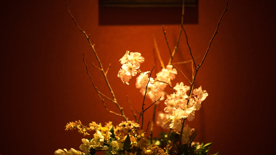 特別室それぞれに合わせたルームフレグランスがふわり、お客様をお出迎え♪