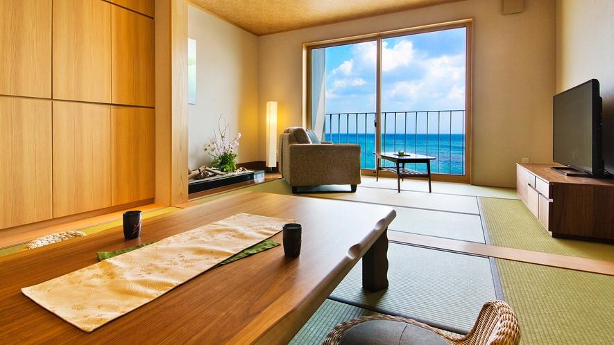 富山湾と立山を望む、まるで絵画のような【大パノラマビュー】が広がります。