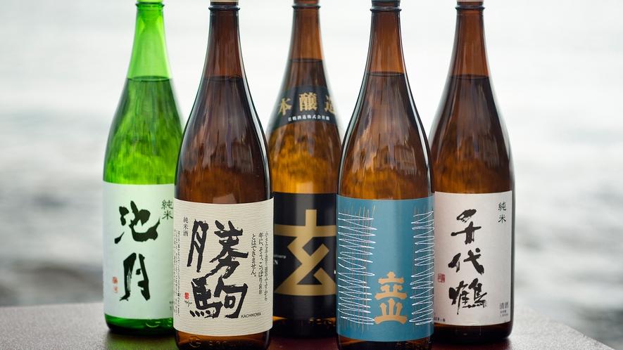 キレのある辛口で県内人気No.1【立山】、幻の名酒【勝駒】など、魚に合う日本酒を多数ご用意♪