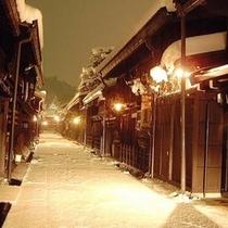 冬の古い町並み