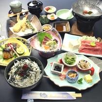 熊野牛&しらす丼で、土地の味と季節の幸を♪