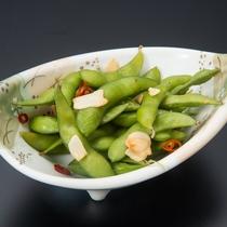 ガーリック風味の枝豆