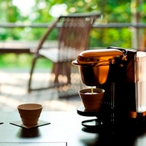 お部屋でコーヒータイム