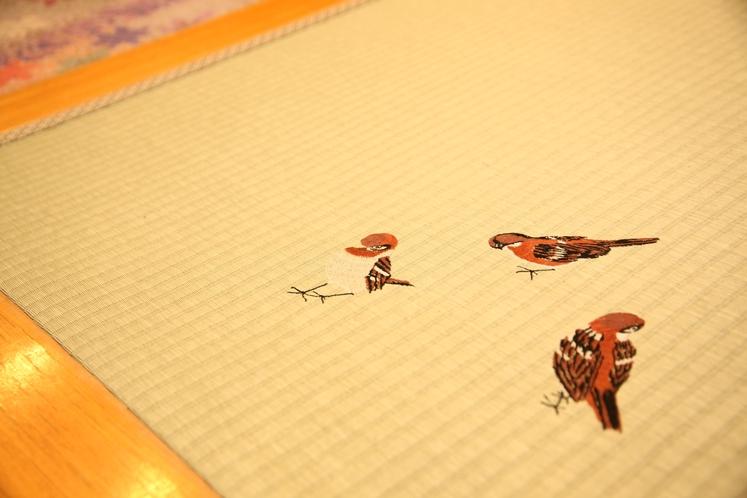 小鳥の刺繡