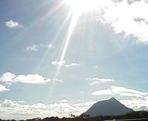 小島と太陽