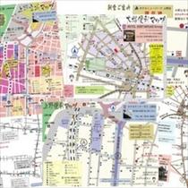☆地図各種☆大塚近郊地図・新大塚駅案内地図等をフロント前にご用意しています