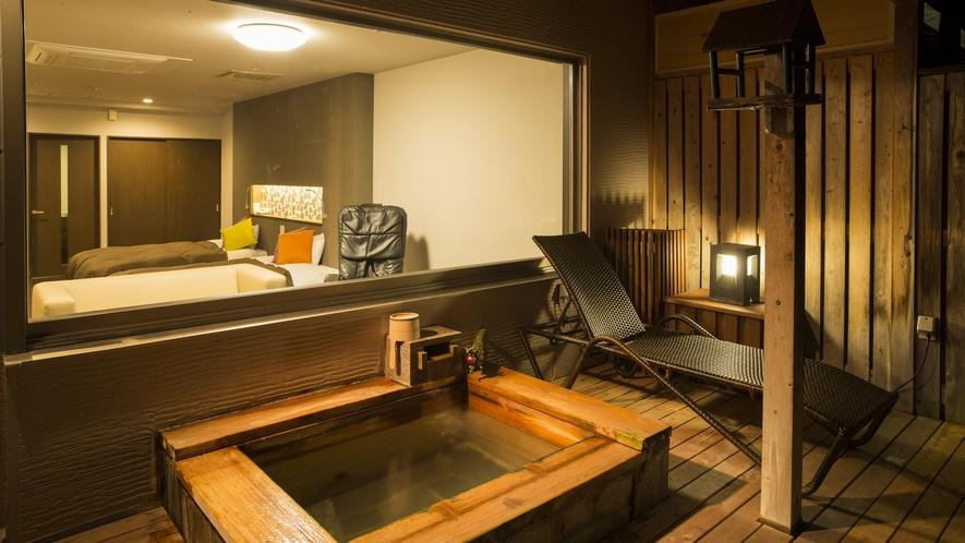 露天風呂付き客室(檜)