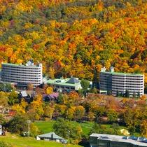 秋の朝里クラッセホテル