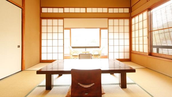◇広縁付和室8畳◇源泉かけ流し温泉・古代檜内風呂