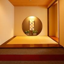 日本の粋を感じる、風情に満ちた大浴場エントランス。
