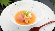 秋料理:【水菓子】柿ゼリー