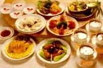 中華フルコースの夕食例