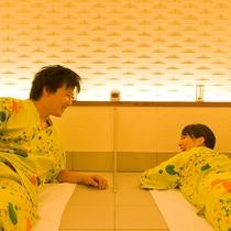 貸切岩盤浴はカップルや、ご夫婦で気兼ねなくご利用いただけます。