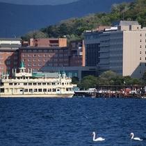 ◆洞爺湖遊覧船/洞爺湖遊覧船は、朝~夕方まで30分間隔で運行しています。
