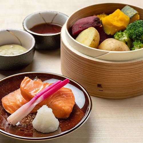 【早紅葉】朝食/焼き魚と温野菜