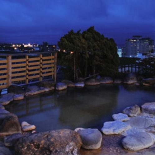 ■夜景を見下ろす露天風呂〜いさりび〜