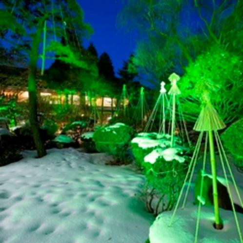 ■啄木亭の日本庭園(冬)