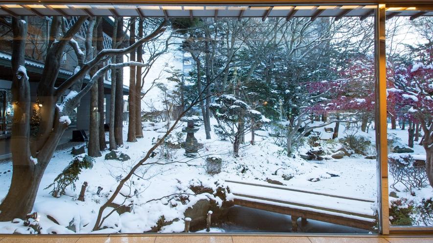 【日本庭園】雪景色