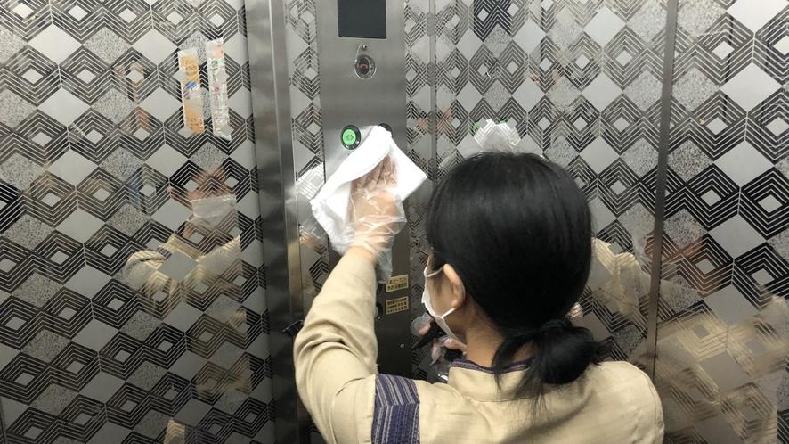 【当社における感染症対策】エレベーター内-001