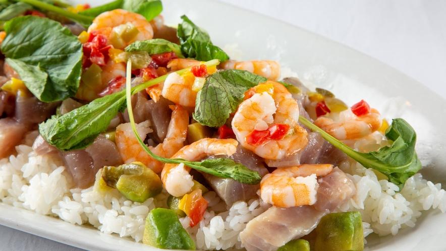 【夕食バイキング】漬けマグロ&アボカドのワインビネガーちらし寿司